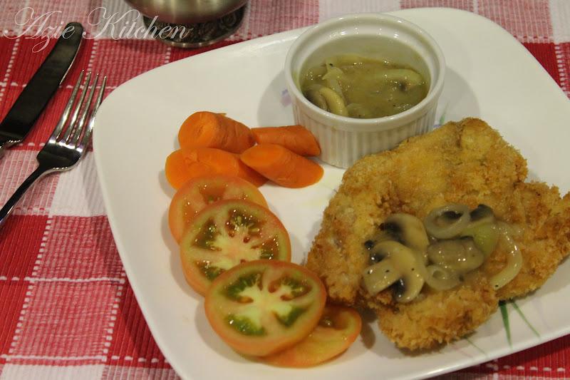 Chicken Chop With Mushroom Sauce Azie Kitchen