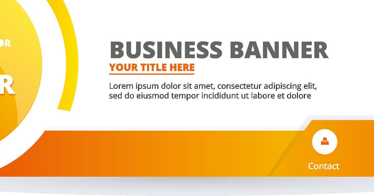 Desain Spanduk Tema Bisnis dan Teknologi Format CorelDRAW ...