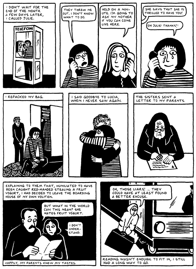 Read Chapter 3 - Pasta, page 25, from Marjane Satrapi's Persepolis 2 - The Story of a Return