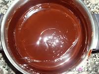 Chocolate negro y mantequilla derretidos