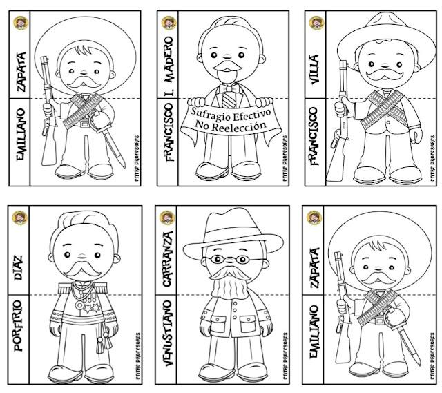 Dibujos para colorear Revolución Mexicana