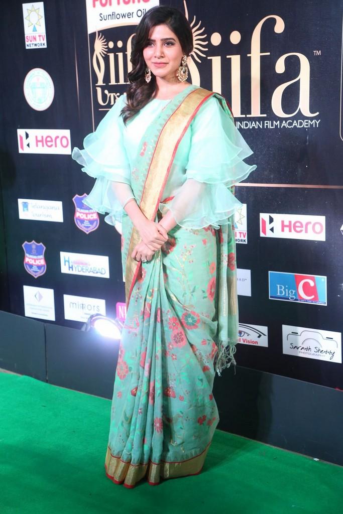 Tollywood Actress Samantha At IIFA Awards 2017 In Green Dress