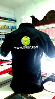 Bordir Logo &Tulisan di Punggung Baju