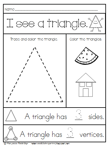 Greedy triangle writing activity for kids