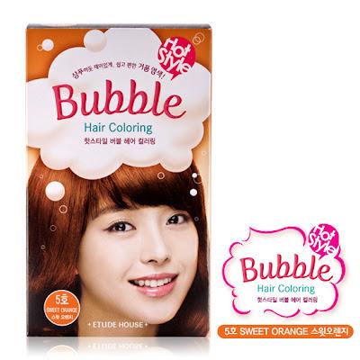 ETUDE bubble hair coloring sweet orange