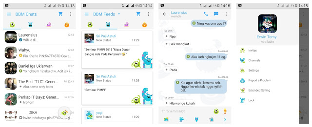 BBM MOD Monster Inc V2.9.0.51 Apk (Free Sticker)