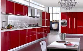 Koleksi Dapur Minimalis Warna Merah Nampak Cantik Modern