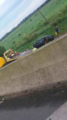 Outro acidente no Sentido Sul para Curitiba