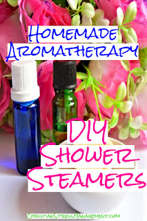 Homemade aromatherapy recipe for shower steamers