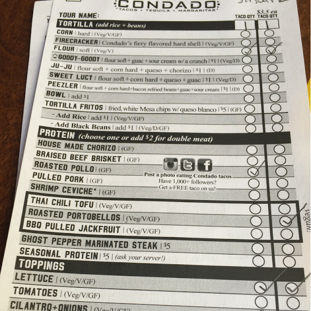 Condado Build Your Own Taco Form