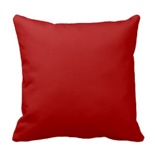 Red Christian home decor throw pillow