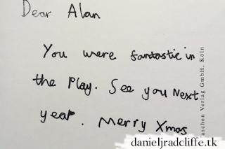 Updated: Daniel Radcliffe's postcard to Alan Rickman