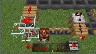 Minecraft 花自動栽培機 配線図