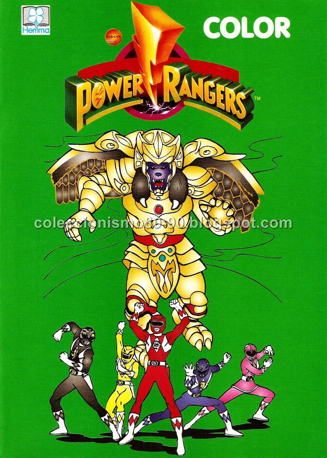 Coleccionismo 80-90: POWER RANGERS: LIBRO PARA COLOREAR