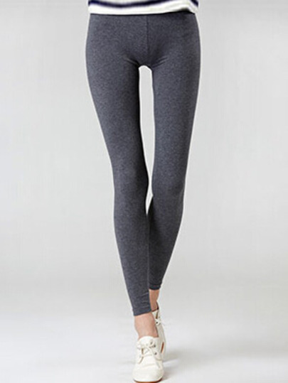 Grey elastic leggings