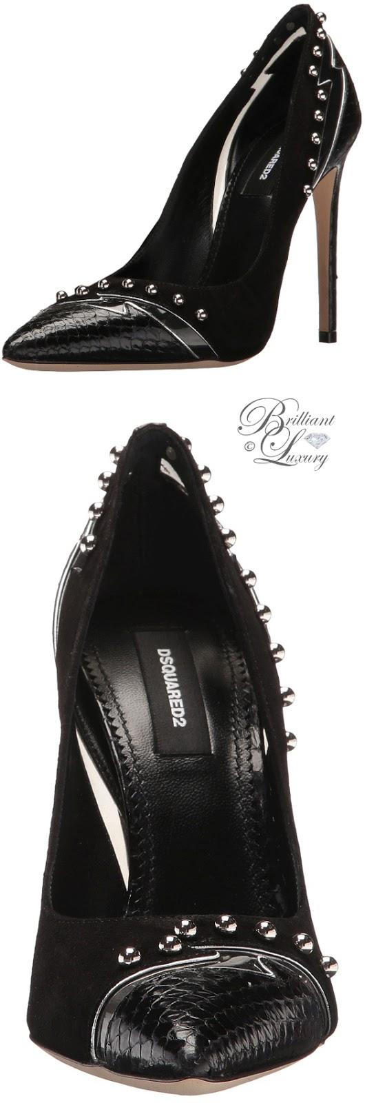 Brilliant Luxury ♦ Dsquared2 black pumps