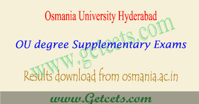 OU degree supply results 2020 Manabadi Osmania University