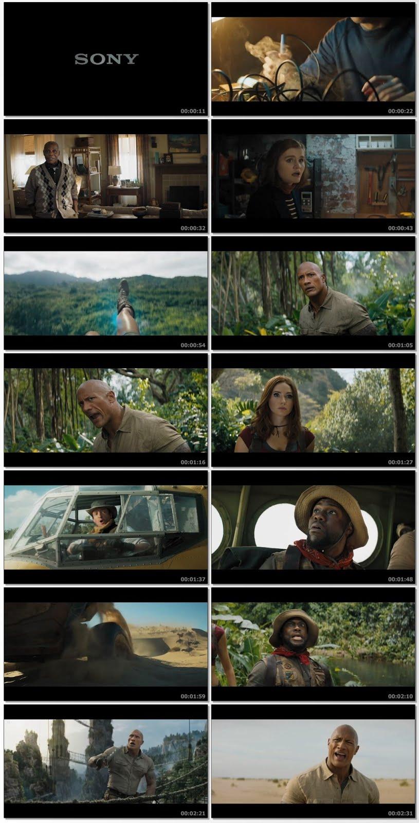 Screenshots Of Hindi Dubbed Movie Jumanji: The Next Level 2019 Trailer official 480P HD
