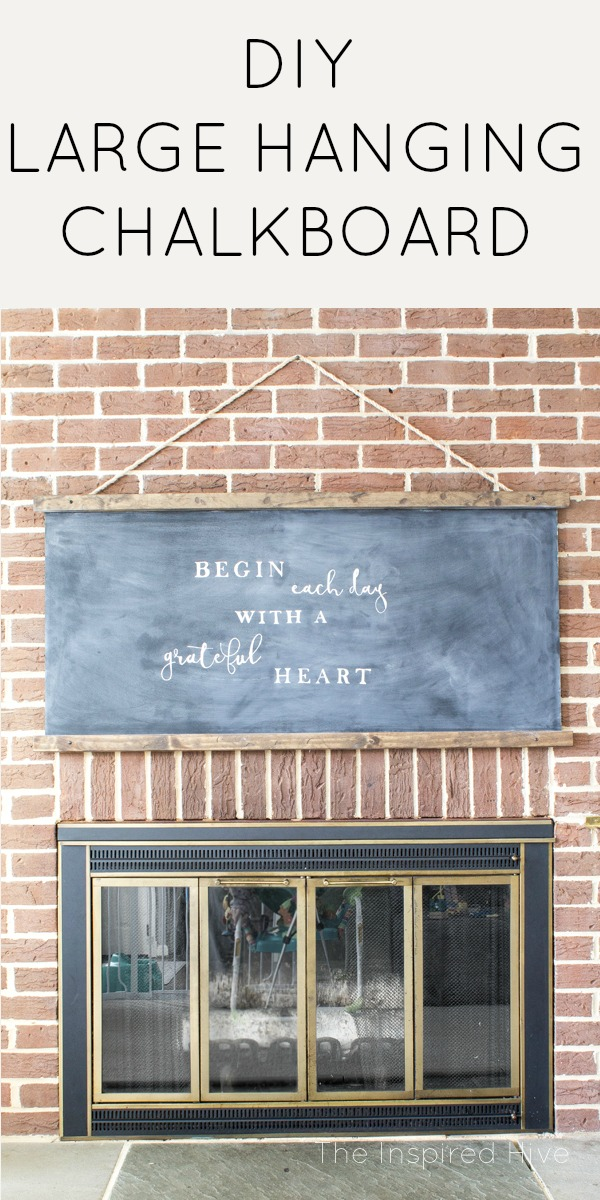 The Easiest Diy Farmhouse Chalkboard The Inspired Hive