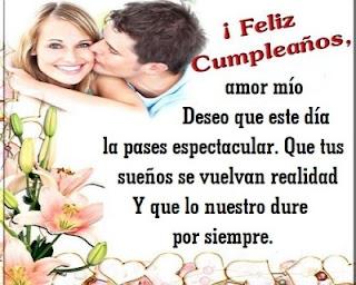feliz cumpleaños mi amor, te amo