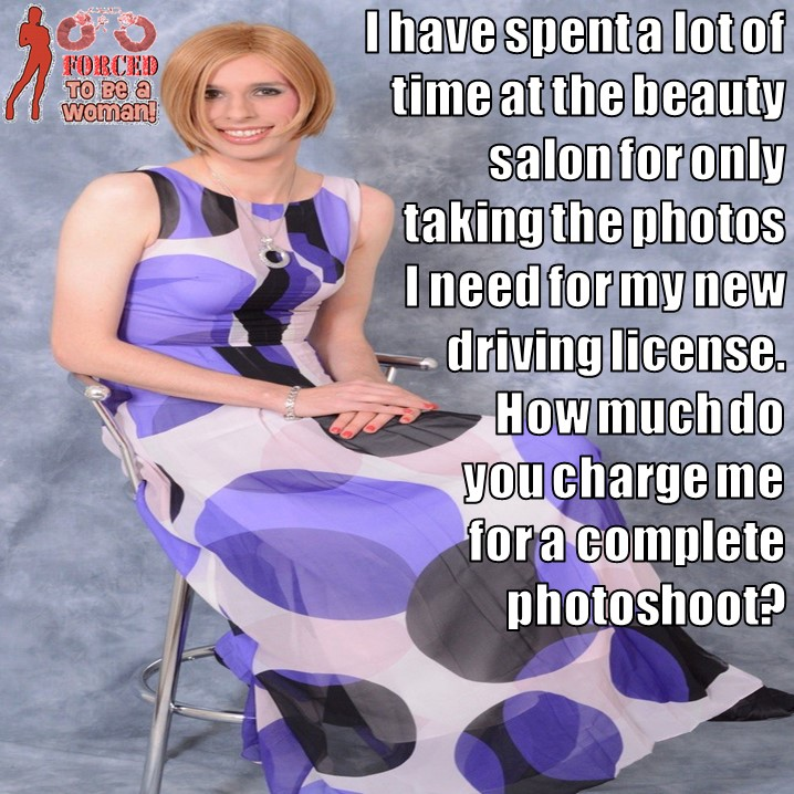 TG Captions And More: A Complete Photoshoot Sissy TG Caption