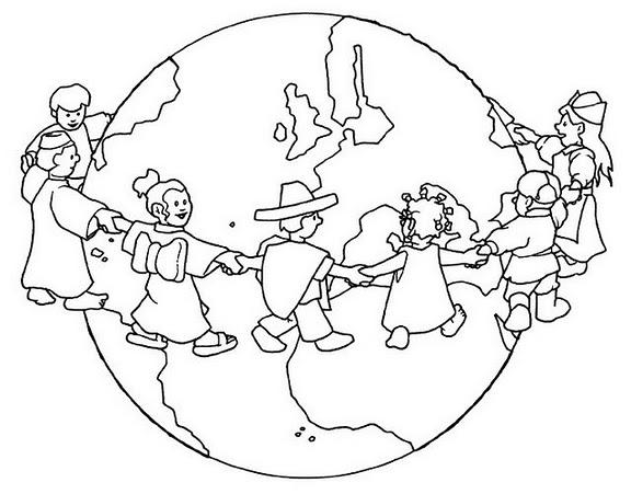 Dibujos De Manos Unidas Para Colorear