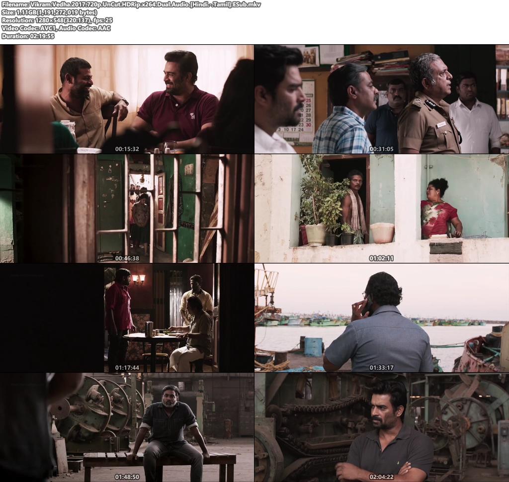 Vikram Vedha 2017 Dual Audio [Hindi Dubbed – Tamil]
