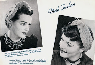 Vintage Mesh Crocheted Turban Pattern