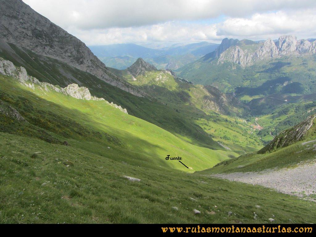 Ruta Tuiza Fariñentu Peña Chana: Bajando por valle de Corrales