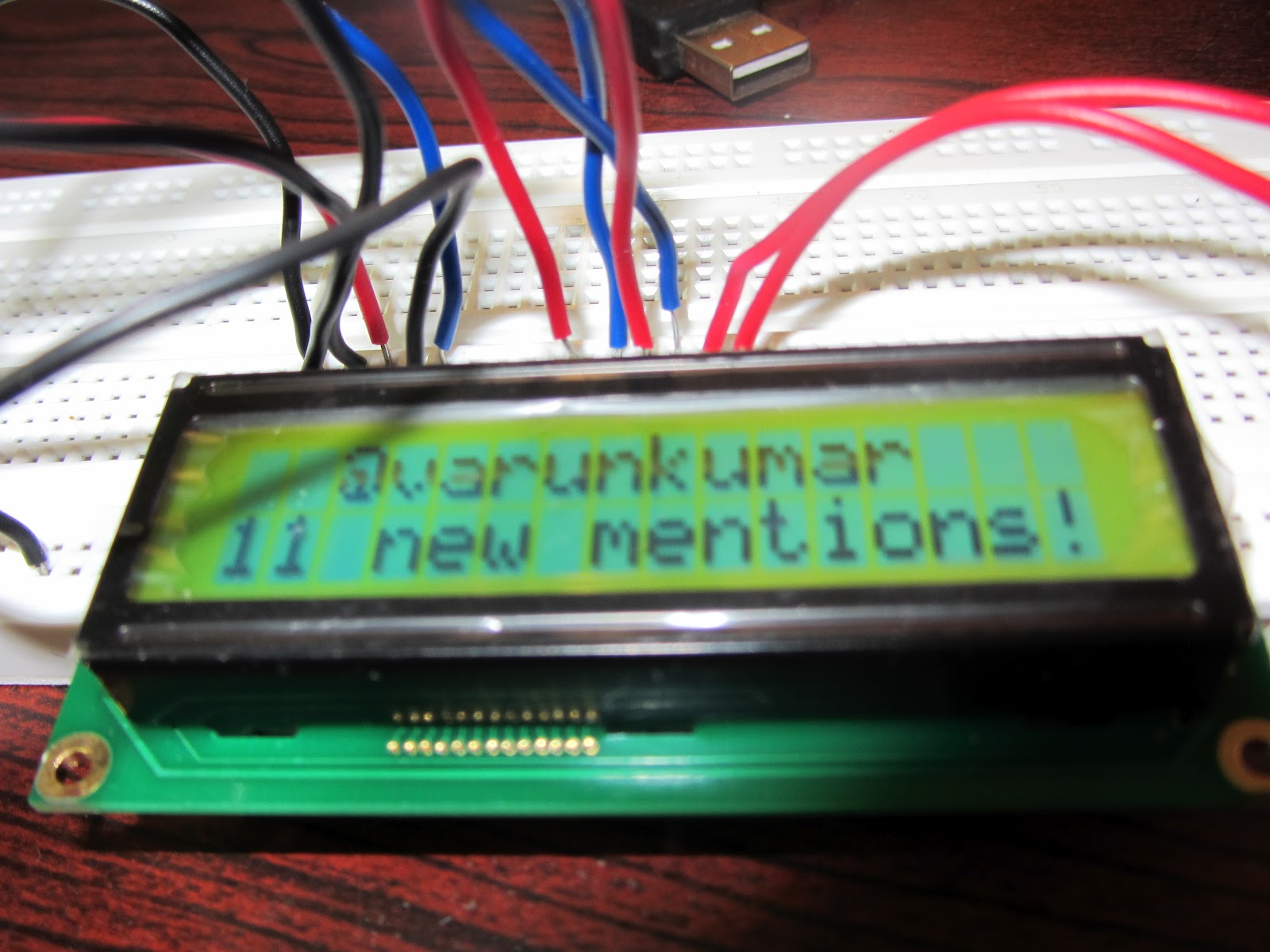 Arduino tweet notifier built with Johnny-Five! | Varun's