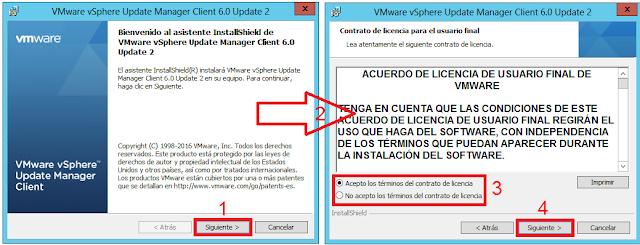 instalación VMware vSphere Update Manager Client 6.0 Update 2