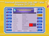 Download Administrasi Ujian SMP Tahun Pelajaran 2017 2018