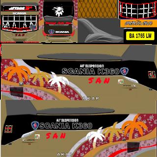 Download Livery Bus SAN XHD