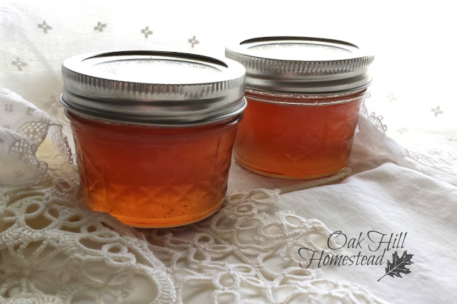 Rose petal jelly in 4-oz canning jars