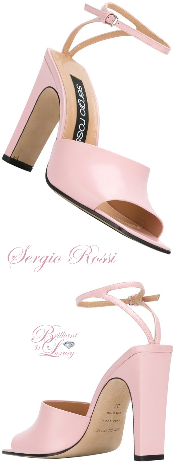 Brilliant Luxury ♦ Sergio Rossi Ankle Strap Sandals
