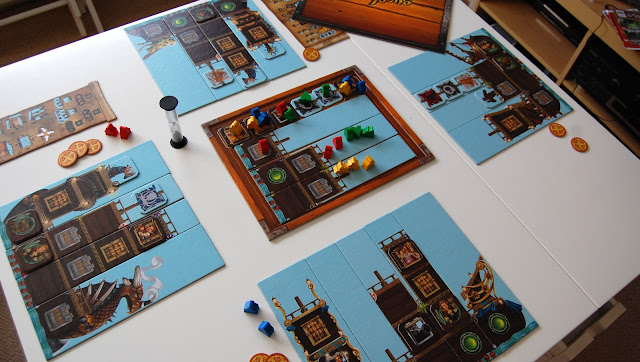 Piratoons board game review 4 player setup