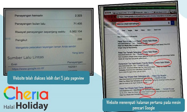 Kualitas Website Cheria Halal Holiday - Blog Mas Hendra