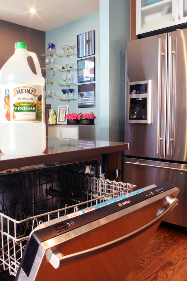 Use vinegar to deodorize the dishwasher