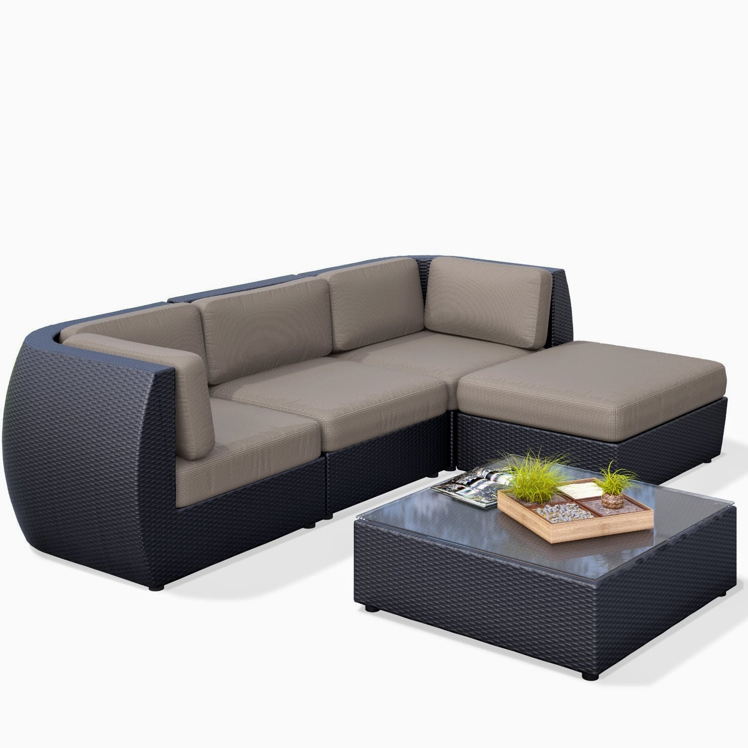 curved sofa: curved outdoor sofa