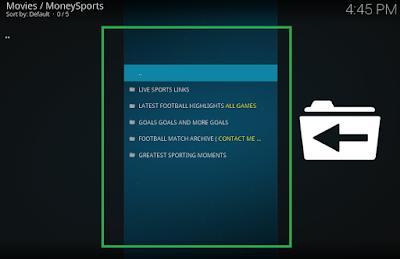 Watching Sports live with moneysports kodi addon