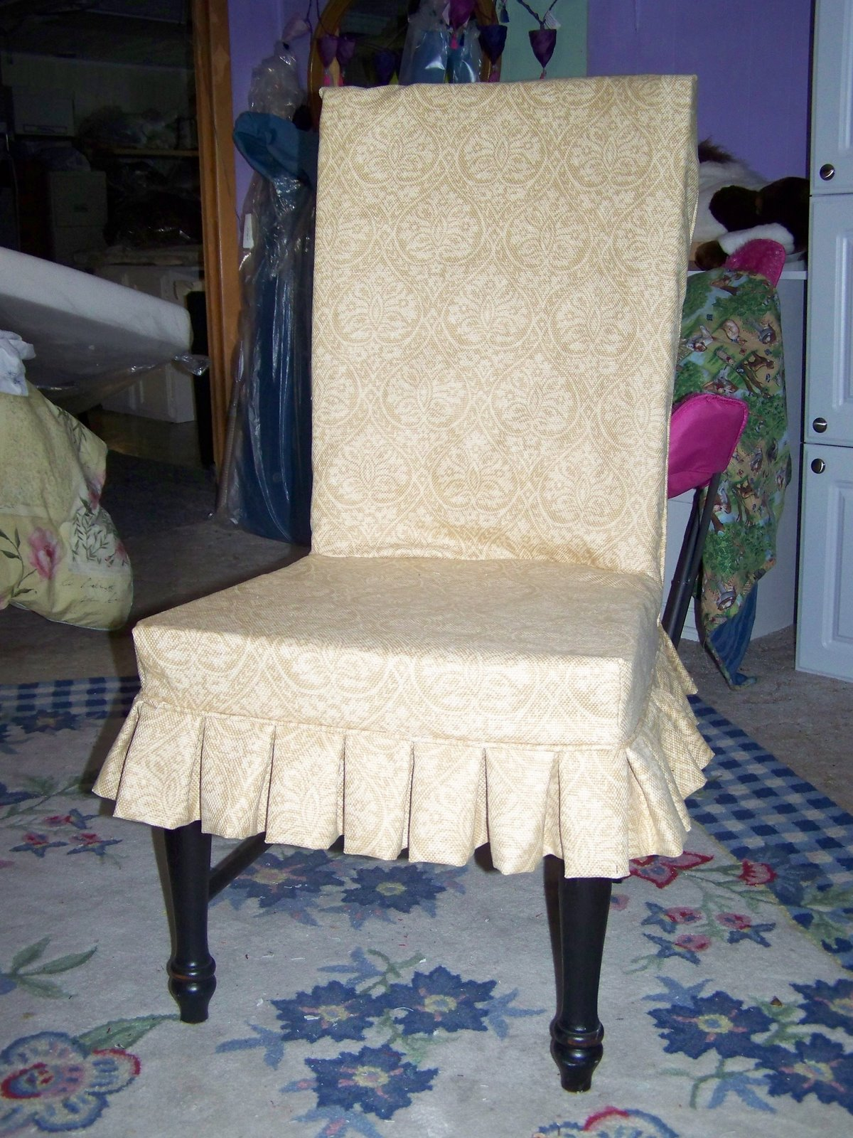 Custom Dining Chair Slipcovers Vintage Leather Club Room Chairs And Parson