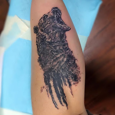 half bear tattoo