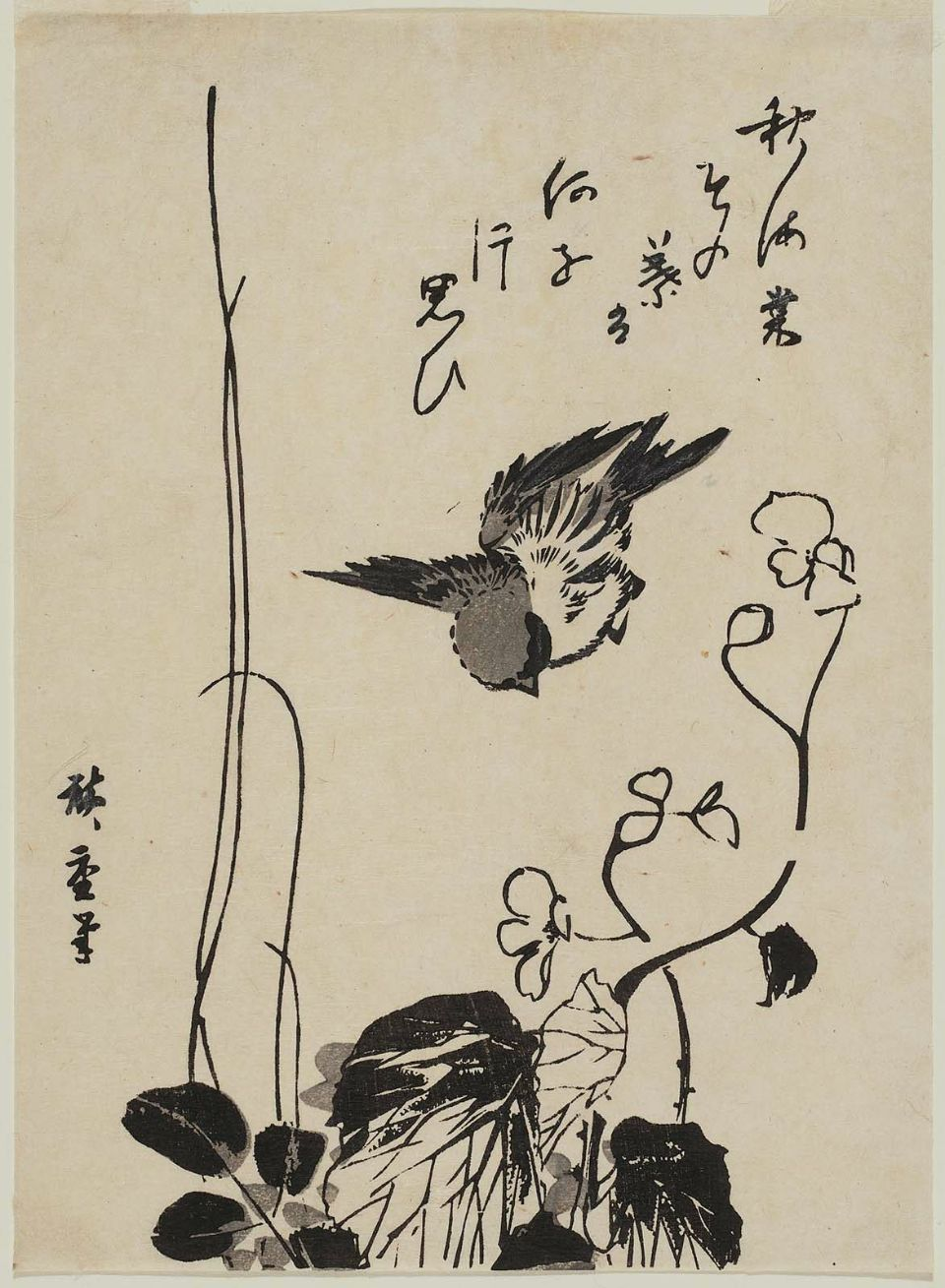Black and White: Hiroshige's Birds and Branches