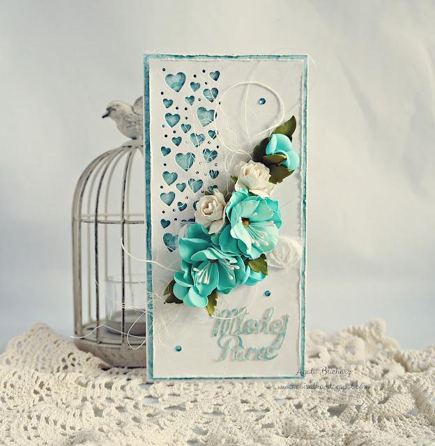 Ślubna w turkusach/DT CraftPassion