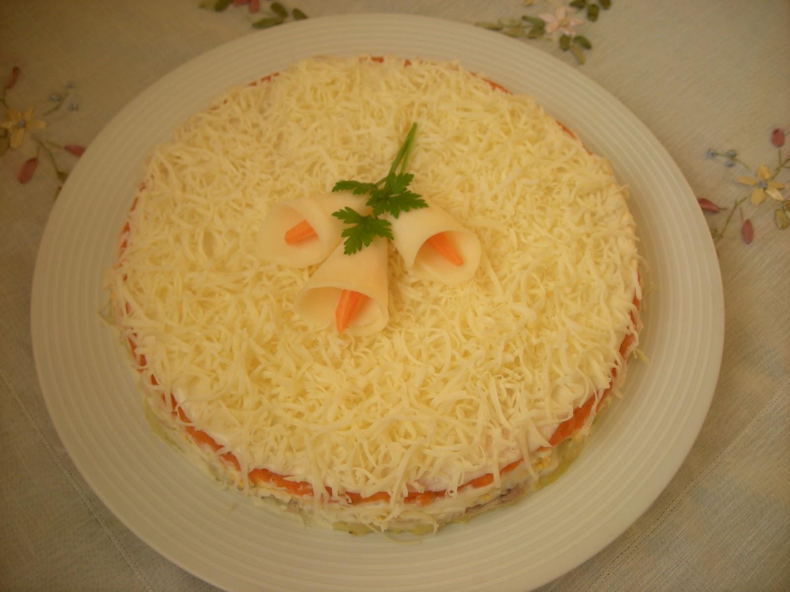 Lezzetli Mimosa salatası, yemek tarifi