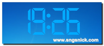 Digital Clock 4.5.7.1069 - Пример вида часов