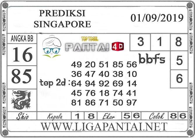 "PREDIKSI TOGEL ""SINGAPORE"" PANTAI4D 01 SEPTEMBER 2019"