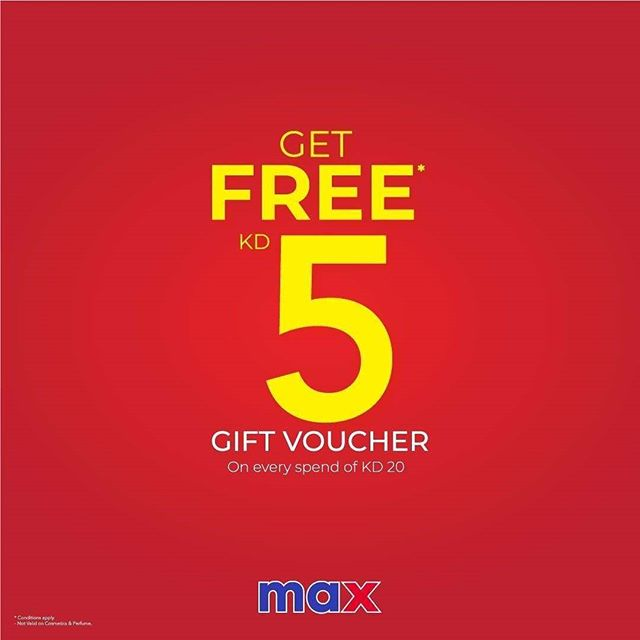 Max Kuwait - Buy for KD 20 or more and get a Gift Voucher ...