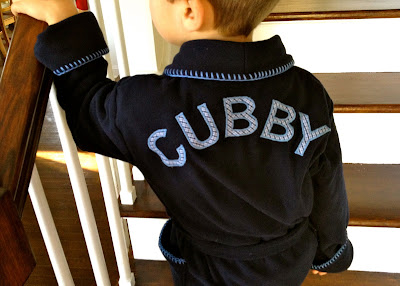 diy kids personalized fleece robe