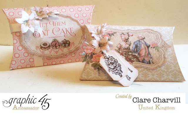 Gilded Lily pillow boxes Clare Charvill Graphic 45